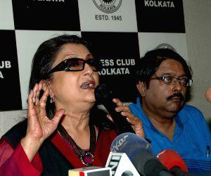 Aparna Sen, Suman Mukhopadhyay, Ashok Viswanathan during a press conference