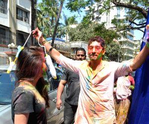 Ayan Mukerji at Esha Deol's Holi party