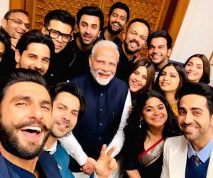 :Filmmaker Ekta Kapoor, Karan Johar, Ashwiny Iyer Tiwari and Rohit Shetty along with actors Ranveer Singh, Bhumi Pednekar, Sidharth Malhotra, Ayushmann Khurrana, Alia Bhatt, Ranbir Kapoor, Vicky ...