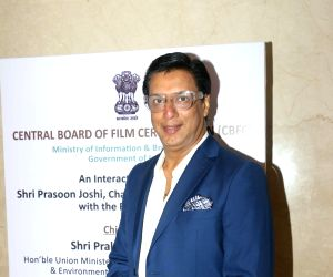 Filmmaker Madhur Bhandarkar during the launch of the new logo and certificate design of Central Board of Film Certification (CBFC) in Mumbai on Sept 1, 2019.