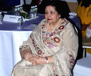 Filmmaker Yash Chopra's wife Pamela Chopra during the launch of a mobile application 'ABC of Breast Health' in Mumbai on March 15, 2017.