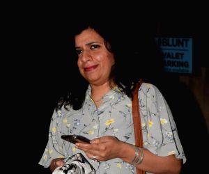 Zoya Akhtar seen at Mumbai's Juhu