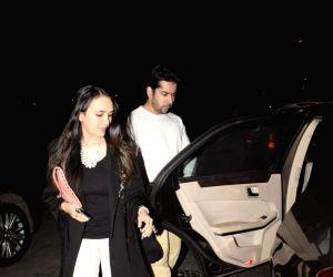 Rohit Dhawan with wife seen at Soho house Juhu