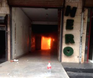 Fire breaks out at Hero Honda showroom