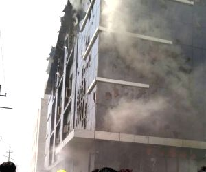 Fire breaks out at a toy factory