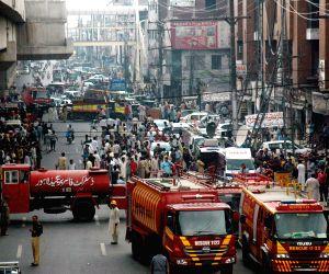 PAKISTAN LAHORE PLAZA FIRE