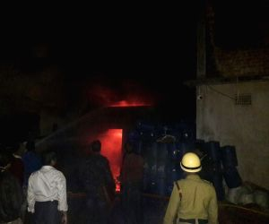 Fire breaks out at fertiliser godown