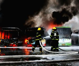 CHINA XIAMEN BUS DEPOT FIRE