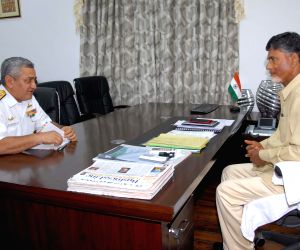 Vice Admiral Satish Soni calls on Andhra CM