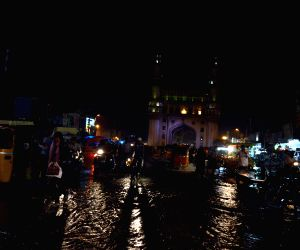 Flooded streets of Hyderabad