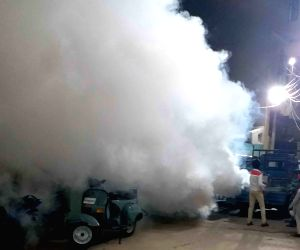 Fogging conducted across the city to fight COVID-19