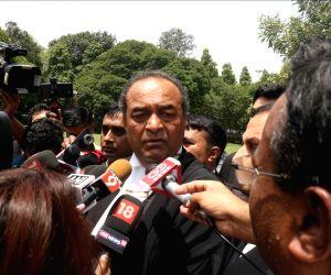 Mukul Rohatgi talks to the media