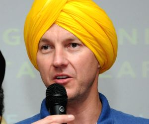 Brett Lee at Guru Ram Das University