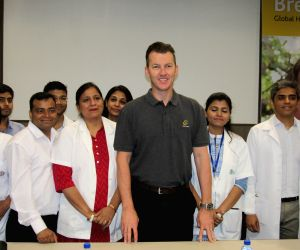 Brett Lee during an awareness programme