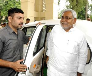 Nitish Kumar arrives at Bihar Legislative Council