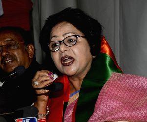 Barkha Shukla Singh joins BJP