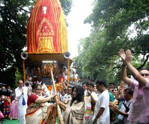 Kolkata: Dona Roy during 'Ulta Rath Yatra
