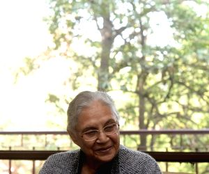 Sheila Dixit during an interview with IANS