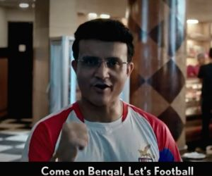Former Indian cricket captain Sourav Ganguly in a still from TVC which is a part of Star Sports' larger campaign named #TrueLove which is all about celebrating fans' love for the beautiful game of football. The TVC takes an inte