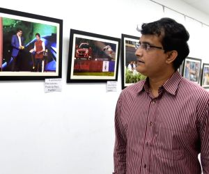 Sourav Ganguly visits an exhibition