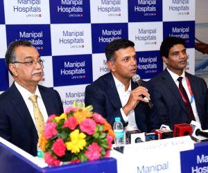 Rahul Dravid at hospital launch