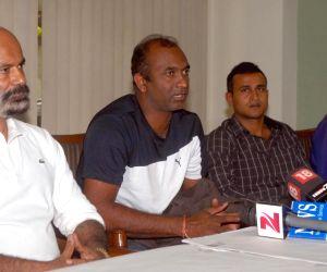Former Indian Cricketers Vijay Bhardwaj at a press meet