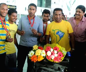 Kempegowda : Indian Men Hockey team arrived at the Kempegowda International Airport
