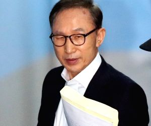 Ex-S.Korean President denies charges in corruption trial