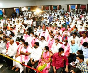 Former Telugu Desam Party (TDP) president of Telangana L. Ramana join  TRS party in front of Chief Minister K. Chandrashekar Rao in Hyderabad