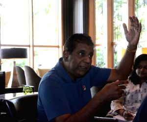 Vijay Amritraj during an interview with IANS