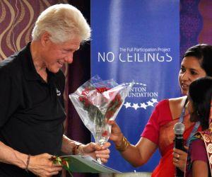 Uttar Pradesh: Clinton visits UP village