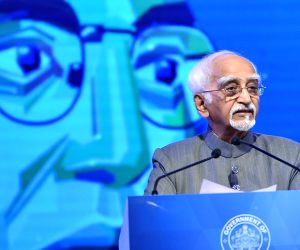 Former Vice President Hamid Ansari addresses during the two-day long seminar 'Conversations of the Constitution' organised by Karnataka Government in Bengaluru, on Jan 22, 2019.