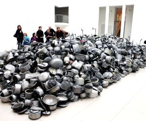 Frankfurt (Germany): Indian artist Subodh Gupta at the Museum for Modern Art