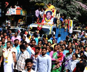 Funeral procession of actor Uday