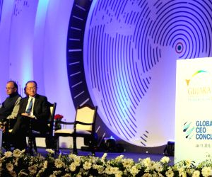 Modi addresses at the global CEO conclave