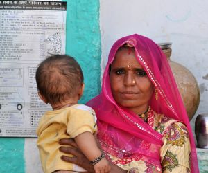 A white ribbon flutters towards safe motherhood in Rajasthan