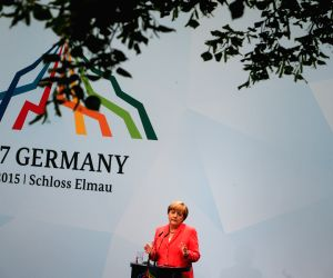 GERMANY G7 MERKEL NEWS CONFERENCE