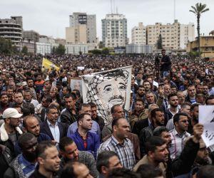 MIDEAST GAZA PROTEST