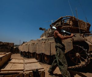 Gaza Strip: Israeli Merkava tanks