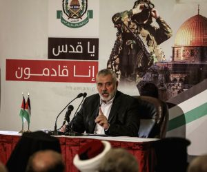 MIDEAST-GAZA CITY-HAMAS-LEADER-SPEECH