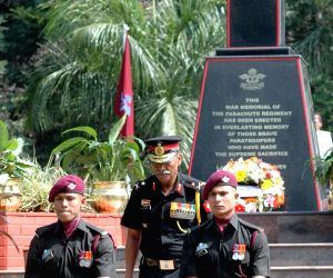 Major General A K Singh pay homage on the 68th Infantry Day