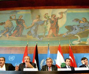 A press conference in Geneva