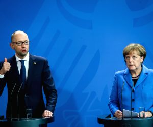 GERMANY BERLIN UKRAINE PM PRESS CONFERENCE