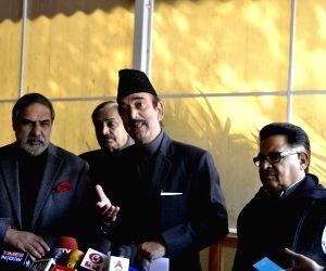 Ghulam Nabi Azad and Anand Sharma. (Photo: IANS)