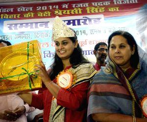 Shooter Shreyashi Singh felicitated