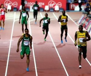 Men's 4X100m relay round 1 of Athletics