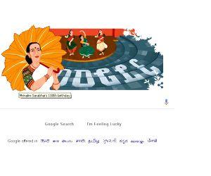 Google celebrated renowned Indian classical dancer Mrinalini Sarabhai on her 100th birth anniversary.