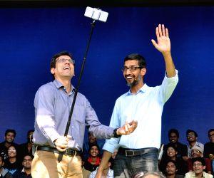 Sundar Pichai interacts with IIT students
