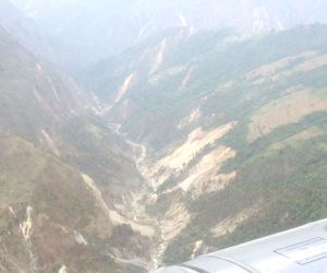 Gorkha (Nepal): Aerial view of Laprak village
