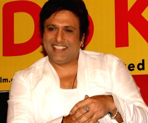 "Govinda at a press meet for the film ""Do Knot Disturb"" in New Delhi on Tuesday 15 Sep 09."